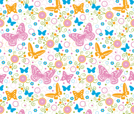Butterflies fabric by jennartdesigns on Spoonflower - custom fabric