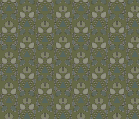 Serenity (Green Bud) fabric by david_kent_collections on Spoonflower - custom fabric