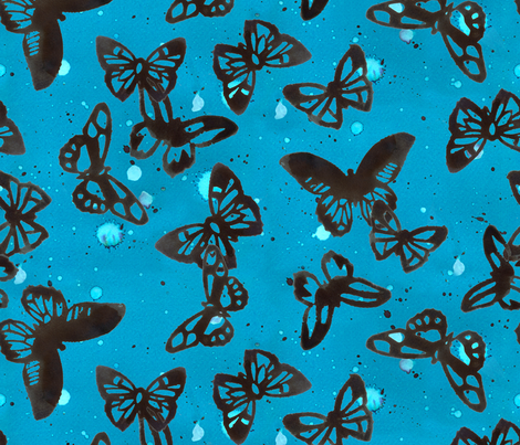 butterfly dance fabric by minimiel on Spoonflower - custom fabric