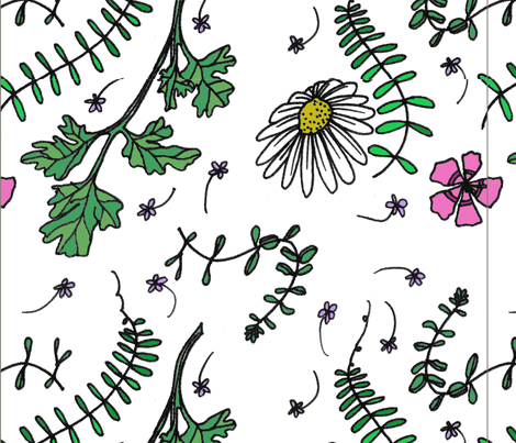herbs fabric by borealchick on Spoonflower - custom fabric