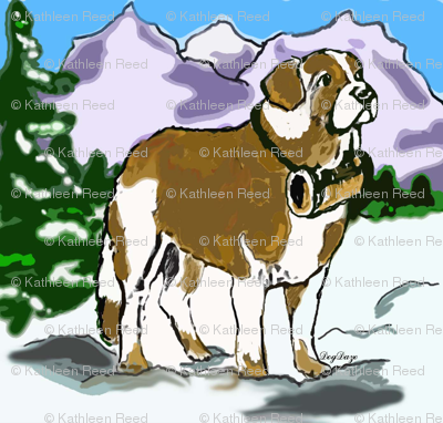 saint_bernard_in_the_mountains