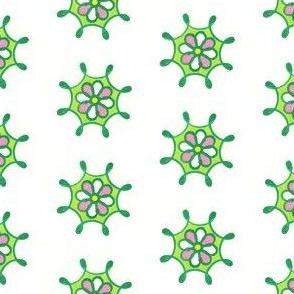 pinkgreenflowerwheel1