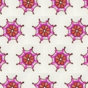 pinkorangeflowerwheel1
