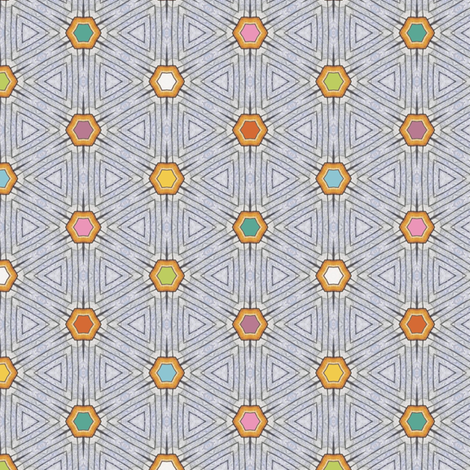 Block-Point Hexagons fabric by siya on Spoonflower - custom fabric