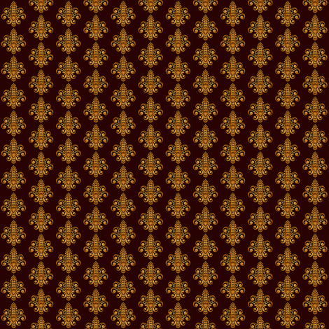 ©2011 Micro20 Fleur de Lis - Brun fabric by glimmericks on Spoonflower - custom fabric