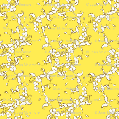 Paisley yellow and white