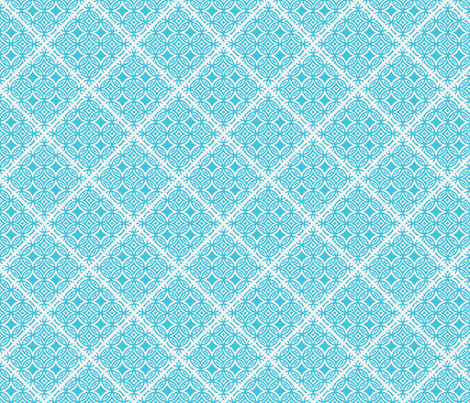 Lattice blue and white for collection fabric by joanmclemore on Spoonflower - custom fabric