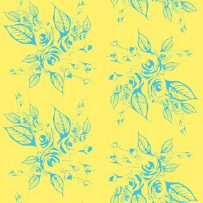 Roses blue and yellow smaller print
