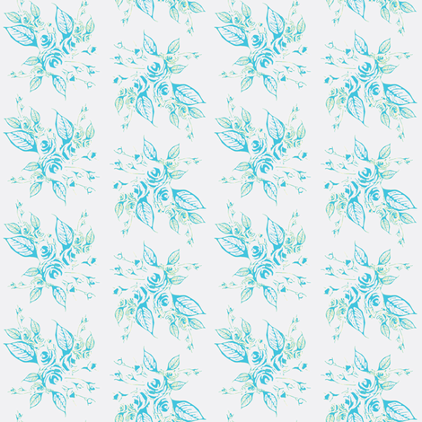 Roses Blue fabric by joanmclemore on Spoonflower - custom fabric
