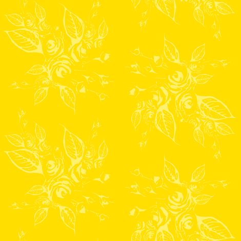 Roses yellow on yellow  fabric by joanmclemore on Spoonflower - custom fabric
