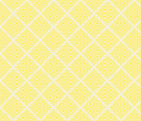 Lattice blue and yellow collection-ch fabric by joanmclemore on Spoonflower - custom fabric