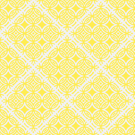 Lattice blue and yellow collection fabric by joanmclemore on Spoonflower - custom fabric