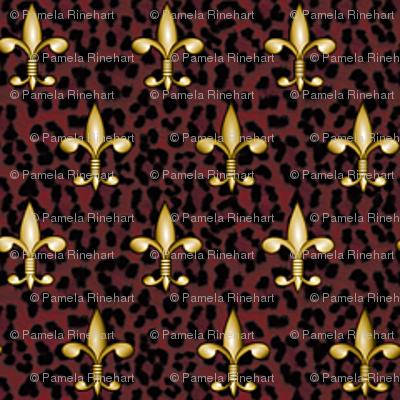 ©2011 Micro20 Royal Red Leopard w Fleur de Lis