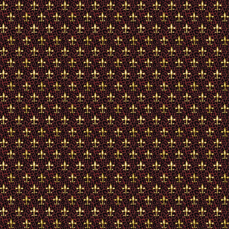 ©2011 Micro20 Royal Red Leopard w Fleur de Lis fabric by glimmericks on Spoonflower - custom fabric