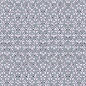 Rain Flowers Grey Fabric
