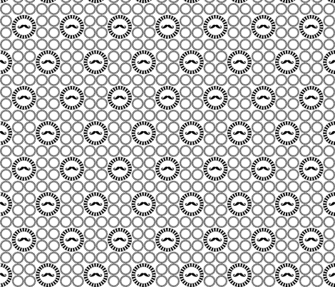 Mustache Encircled fabric by newmomdesigns on Spoonflower - custom fabric