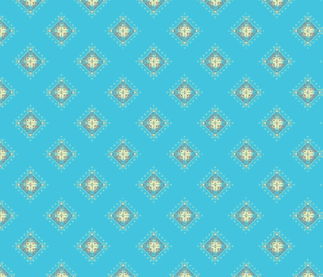 Deco Diamonds Blue fabric by joanmclemore on Spoonflower - custom fabric