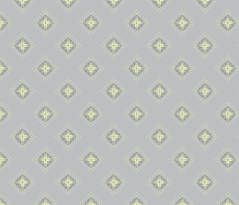 Deco Diamonds yellow and gray-ch fabric by joanmclemore on Spoonflower - custom fabric