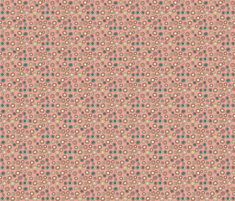 Mini Drops -pink fabric by catru on Spoonflower - custom fabric
