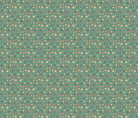 Mini Drops - green fabric by catru on Spoonflower - custom fabric