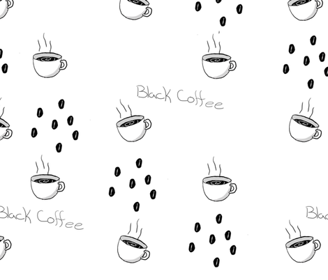 Black Coffee fabric by pookie8287 on Spoonflower - custom fabric