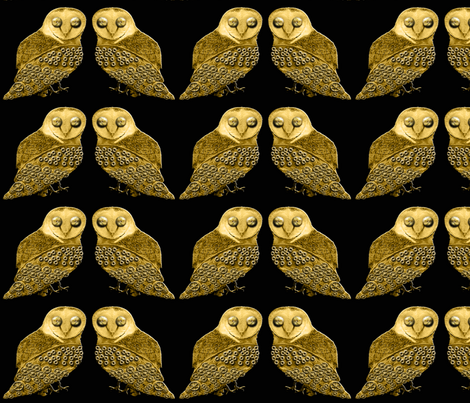 Robo Owls fabric by nezumiworld on Spoonflower - custom fabric