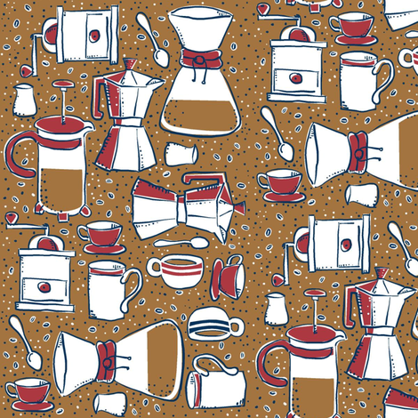 coffee_makers fabric by antoniamanda on Spoonflower - custom fabric
