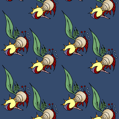 Hermit Crabs fabric by pond_ripple on Spoonflower - custom fabric