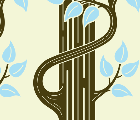 Art Nouveau Trees fabric by birdnerd on Spoonflower - custom fabric