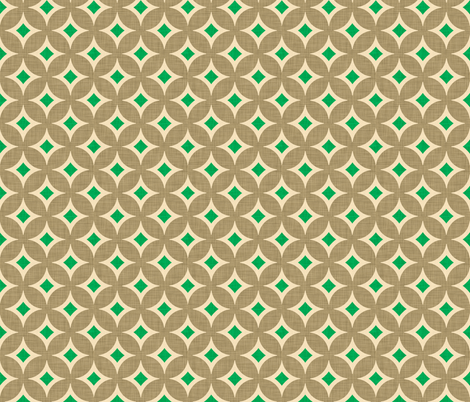 diamond_circles_kelly fabric by holli_zollinger on Spoonflower - custom fabric