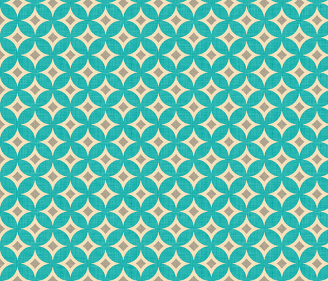 diamond_circles_aqua fabric by holli_zollinger on Spoonflower - custom fabric