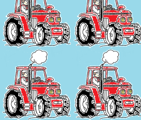 large tractor fabric by barakatblessings on Spoonflower - custom fabric