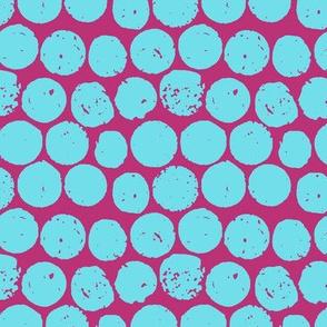 cork polka pink turquoise