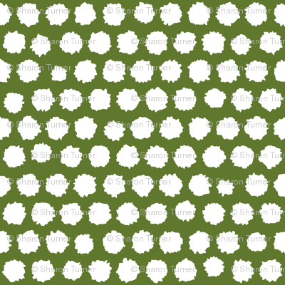 pom pom small spot green white