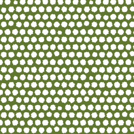 pom pom small spot green white fabric by scrummy on Spoonflower - custom fabric