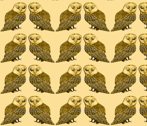 Robo Owl Twins fabric by nezumiworld on Spoonflower - custom fabric