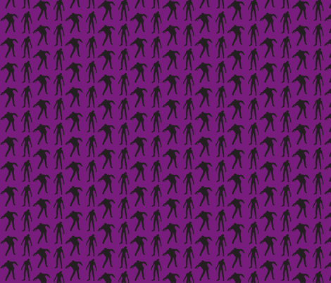 zombies purple fabric by thedrunkengnome on Spoonflower - custom fabric