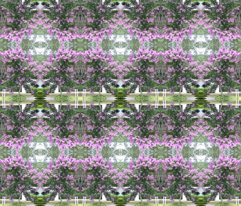 Purple Blooms Galore fabric by scooter61 on Spoonflower - custom fabric