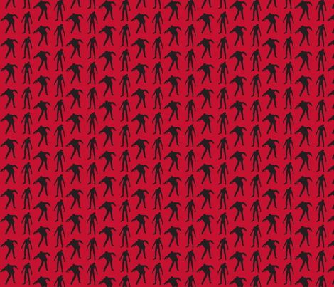 zombies red fabric by thedrunkengnome on Spoonflower - custom fabric
