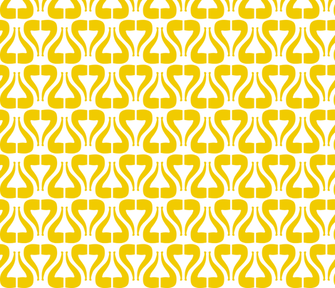 I Heart Pipe - Mustard, small fabric by newmom on Spoonflower - custom fabric