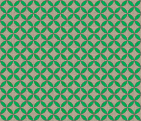 circle_green_leaf_linen fabric by holli_zollinger on Spoonflower - custom fabric