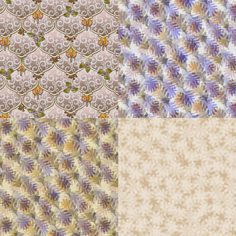 ©2011 4xFQ woodlands fabric by glimmericks on Spoonflower - custom fabric