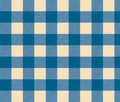 gingham copenhagen fabric by holli_zollinger on Spoonflower - custom fabric