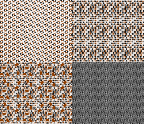©2011 4xFQ coffee fabric by glimmericks on Spoonflower - custom fabric