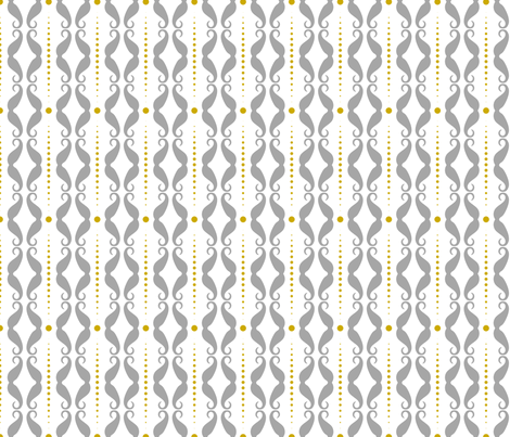 Mustache Stripes - Grey fabric by newmom on Spoonflower - custom fabric