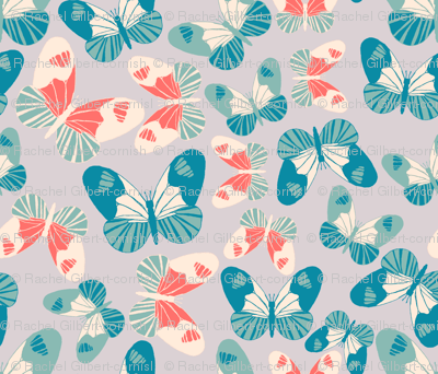 butterfly accumulation modern retro
