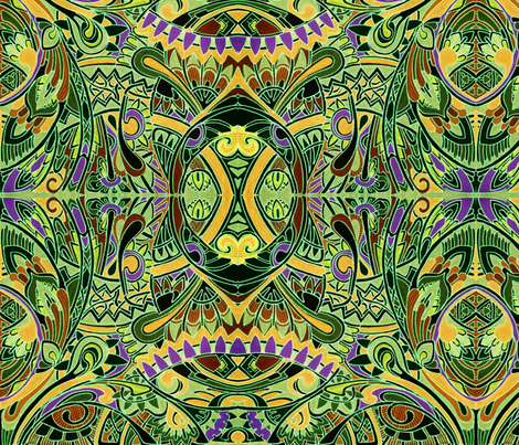 Great Big Jungle  fabric by edsel2084 on Spoonflower - custom fabric