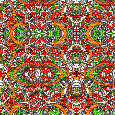 Oranges and limes fabric by edsel2084 on Spoonflower - custom fabric