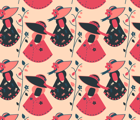 Sue La La fabric by eppiepeppercorn on Spoonflower - custom fabric