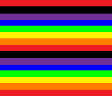 Gay Pride Rainbow fabric by tieflingknight on Spoonflower - custom fabric